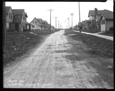 Street Improvement Photographs -- Box 42, Folder 57 (Palmetto Street) -- negative, 1930-02-24