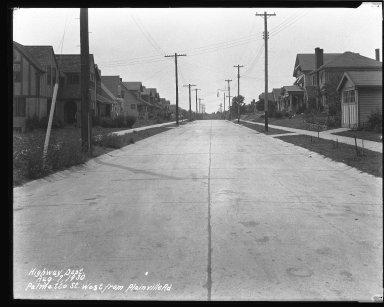 Street Improvement Photographs -- Box 42, Folder 57 (Palmetto Street) -- negative, 1930-08-07