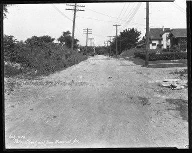 Street Improvement Photographs -- Box 42, Folder 58 (Palos Street) -- negative, 1928-07-11