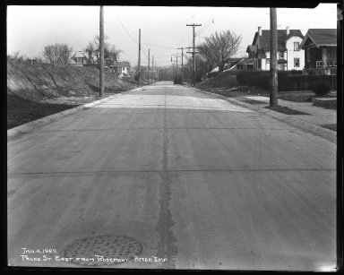 Street Improvement Photographs -- Box 42, Folder 58 (Palos Street) -- negative, 1929-01-04