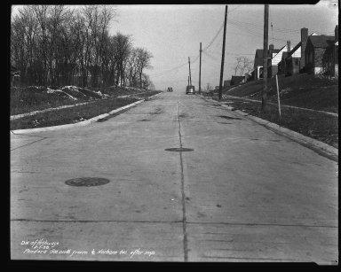 Street Improvement Photographs -- Box 42, Folder 59 (Pandora Avenue) -- negative, 1938-02-01