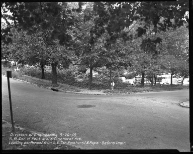 Street Improvement Photographs -- Box 42, Folder 60 (Pape Avenue) -- negative, 1949-09-26