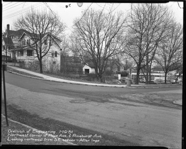 Street Improvement Photographs -- Box 42, Folder 60 (Pape Avenue) -- negative, 1951-01-16