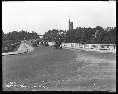 Street Improvement Photographs -- Box 42, Folder 62 (Park Avenue Bridge) -- negative, 1926-06-28