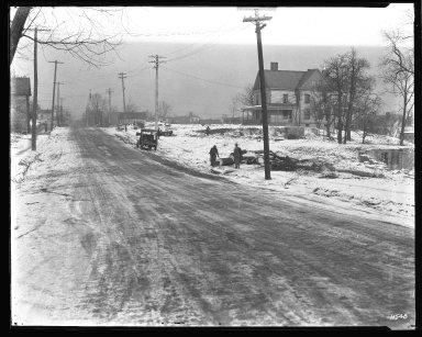 Street Improvement Photographs -- Box 43, Folder 01 (Parkway Extension) -- negative, 1930