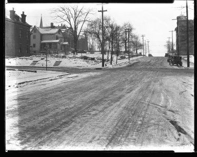 Street Improvement Photographs -- Box 43, Folder 01 (Parkway Extension) -- negative, 1930
