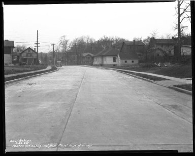 Street Improvement Photographs -- Box 43, Folder 05 (Paxton Avenue) -- negative, 1938-01-20