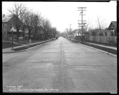 Street Improvement Photographs -- Box 43, Folder 06 (Paxton Avenue) -- negative, 1930-11-12