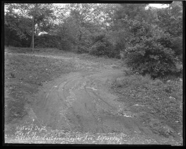 Street Improvement Photographs -- Box 43, Folder 06 (Paxton Avenue) -- negative, 1930-05-19