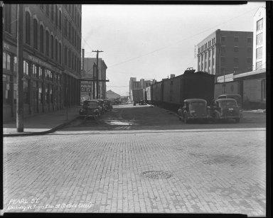 Street Improvement Photographs -- Box 43, Folder 09 (Pearl Street) -- negative, 1945
