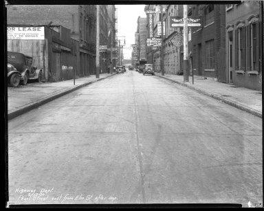 Street Improvement Photographs -- Box 43, Folder 09 (Pearl Street) -- negative, 1930-09-19