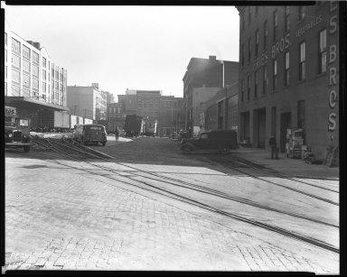 Street Improvement Photographs -- Box 43, Folder 10 (Pearl Street) -- negative, 1945