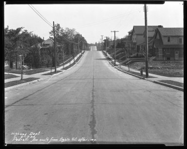 Street Improvement Photographs -- Box 43, Folder 11 (Pedretti Avenue) -- negative, 1930-05-13