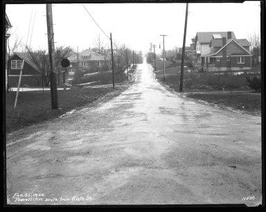 Street Improvement Photographs -- Box 43, Folder 11 (Pedretti Avenue) -- negative, 1929-02-25