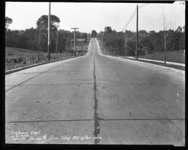 Street Improvement Photographs -- Box 43, Folder 12 (Pedretti Avenue) -- negative, 1930-05-13