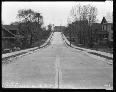 Street Improvement Photographs -- Box 43, Folder 12 (Pedretti Avenue) -- negative, 1929-05-27