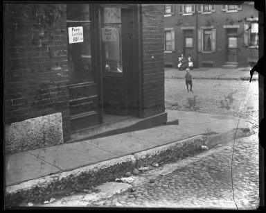 Street Improvement Photographs -- Box 43, Folder 15 (Pendleton Street (sidewalk)) -- negative, 1929