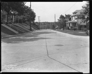 Street Improvement Photographs -- Box 43, Folder 16 (Percy Avenue) -- negative, 1933-06-19