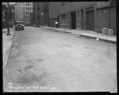 Street Improvement Photographs -- Box 43, Folder 17 (Perry Street) -- negative, 1927-05-05
