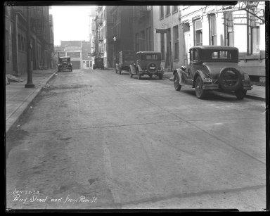 Street Improvement Photographs -- Box 43, Folder 17 (Perry Street) -- negative, 1928-01-22