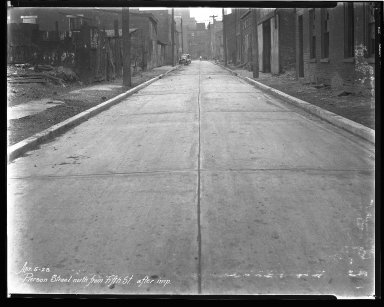 Street Improvement Photographs -- Box 43, Folder 19 (Pierson Street) -- negative, 1928-04-05