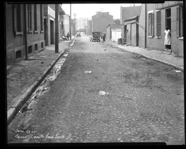 Street Improvement Photographs -- Box 43, Folder 19 (Pierson Street) -- negative, 1927-06-23