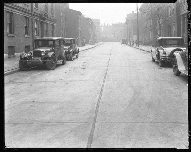 Street Improvement Photographs -- Box 43, Folder 20 (Pine Street) -- negative, 1929-01-11