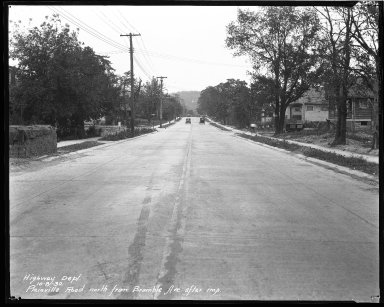 Street Improvement Photographs -- Box 43, Folder 21 (Plainville Road) -- negative, 1930-10-08