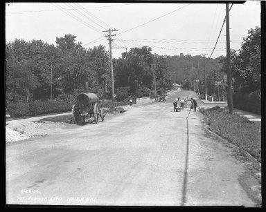 Street Improvement Photographs -- Box 43, Folder 21 (Plainville Road) -- negative, 1926-06-28