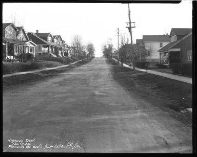 Street Improvement Photographs -- Box 43, Folder 21 (Plainville Road) -- negative, 1930-02-17