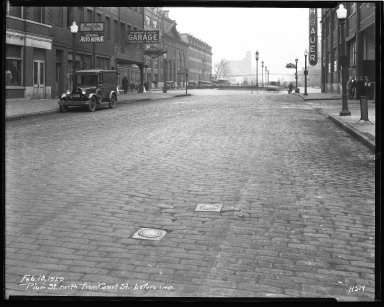 Street Improvement Photographs -- Box 43, Folder 22 (Plum Street) -- negative, 1929-02-18