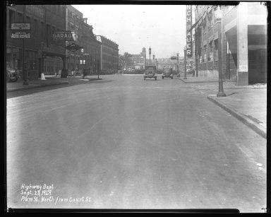 Street Improvement Photographs -- Box 43, Folder 22 (Plum Street) -- negative, 1929-09-23
