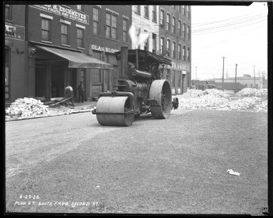 Street Improvement Photographs -- Box 43, Folder 22 (Plum Street) -- negative, 1926-06-23