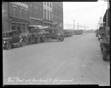 Street Improvement Photographs -- Box 43, Folder 22 (Plum Street) -- negative, 1927-01-06