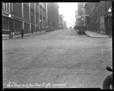 Street Improvement Photographs -- Box 43, Folder 22 (Plum Street) -- negative, 1927-01-06