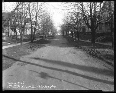 Street Improvement Photographs -- Box 43, Folder 23 (Portsmouth Avenue) -- negative, 1930-02-24