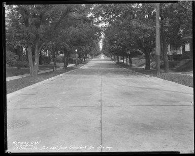 Street Improvement Photographs -- Box 43, Folder 23 (Portsmouth Avenue) -- negative, 1930-09-12