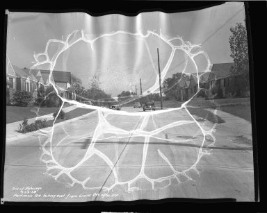 Street Improvement Photographs -- Box 43, Folder 25 (Portman Avenue) -- negative, 1938-09-23