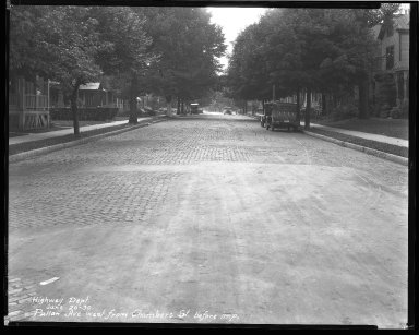 Street Improvement Photographs -- Box 43, Folder 28 (Pullan Avenue) -- negative, 1930-06-20