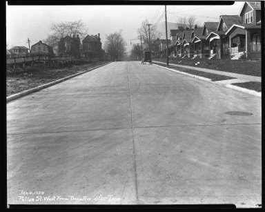 Street Improvement Photographs -- Box 43, Folder 28 (Pullan Avenue) -- negative, 1929-01-04