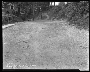 Street Improvement Photographs -- Box 43, Folder 29 (Purdue Street) -- negative, 1927-07-27