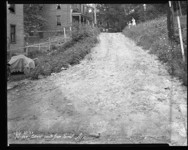 Street Improvement Photographs -- Box 43, Folder 29 (Purdue Street) -- negative, 1927-07-27