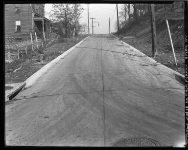 Street Improvement Photographs -- Box 43, Folder 29 (Purdue Street) -- negative, 1928-12-28