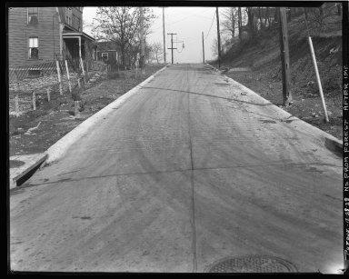 Street Improvement Photographs -- Box 43, Folder 29 (Purdue Street) -- negative, 1928-12-28