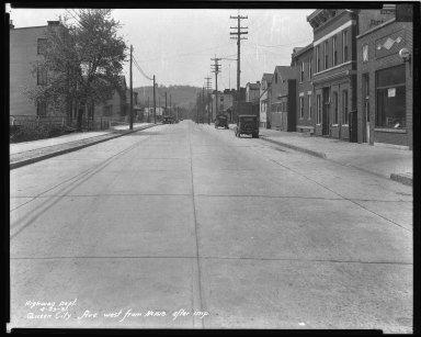 Street Improvement Photographs -- Box 43, Folder 31 (Queen City Avenue) -- negative, 1931-04-29