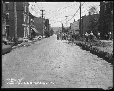 Street Improvement Photographs -- Box 43, Folder 32 (Queen City Avenue) -- negative, 1930-08-15
