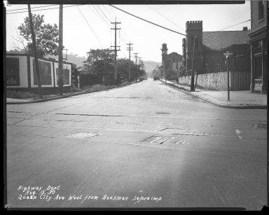 Street Improvement Photographs -- Box 43, Folder 33 (Queen City Avenue) -- negative, 1930-08-15