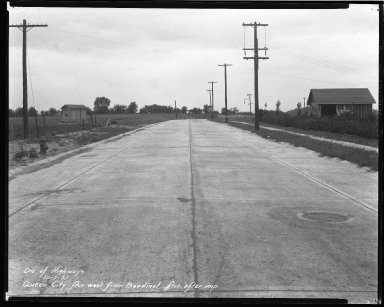 Street Improvement Photographs -- Box 43, Folder 33 (Queen City Avenue) -- negative, 1931-10-07