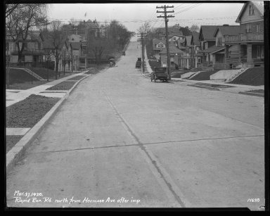 Street Improvement Photographs -- Box 43, Folder 40 (Rapid Run Road) -- negative, 1929-03-27