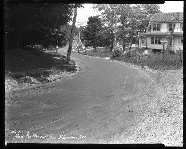 Street Improvement Photographs -- Box 43, Folder 40 (Rapid Run Road) -- negative, 1928-07-20